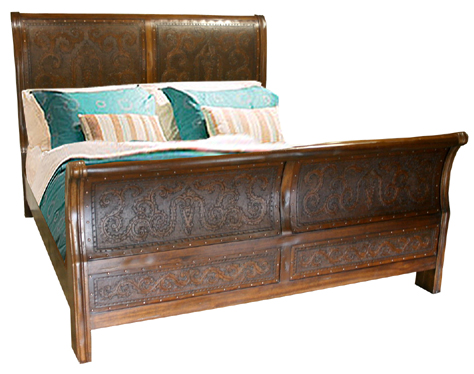 Isabella Rustic Colonial Bed Western Bedroom Furniture - Free ...