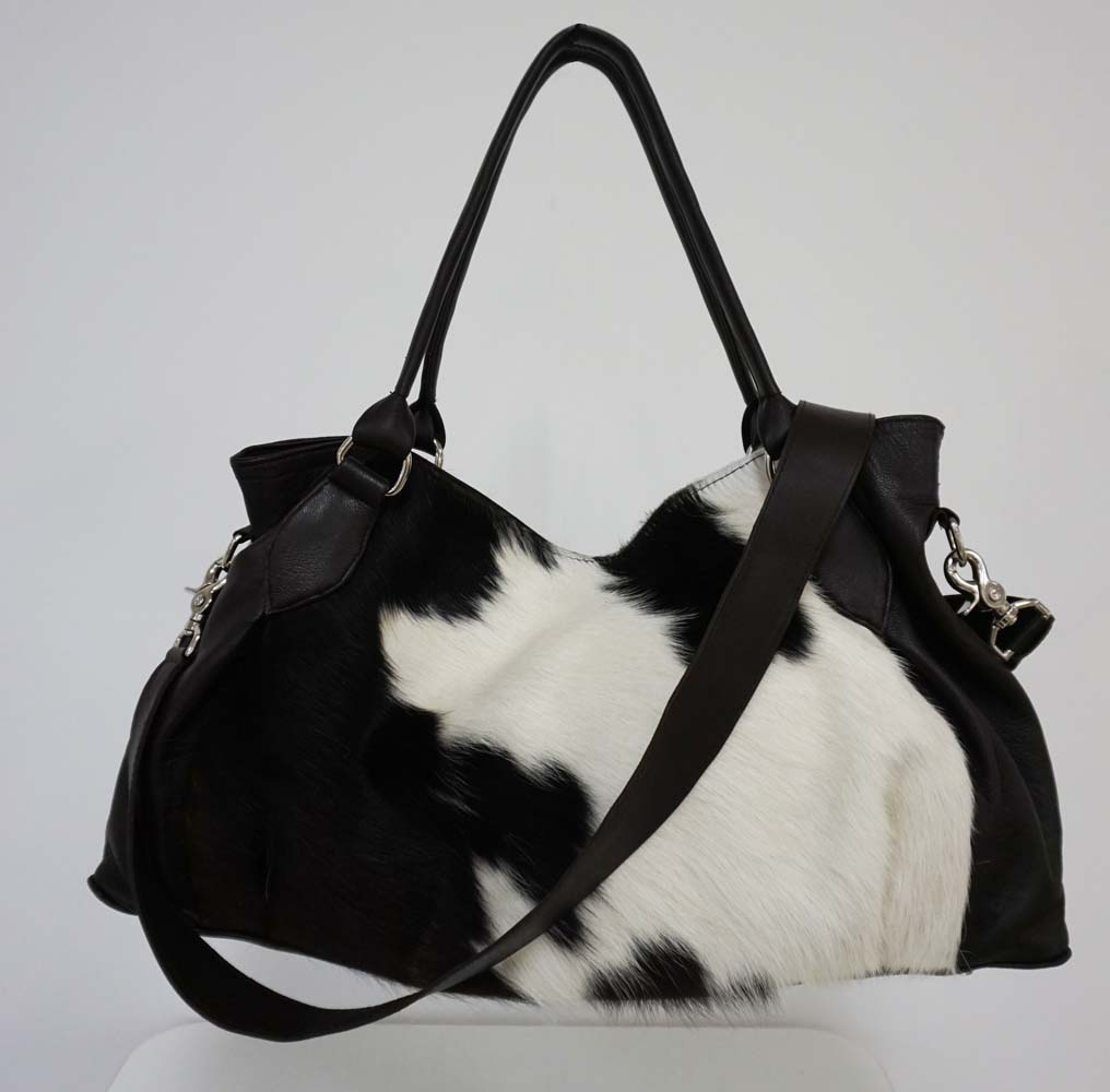 Black And White Hair On Hide Handbag Western Passion