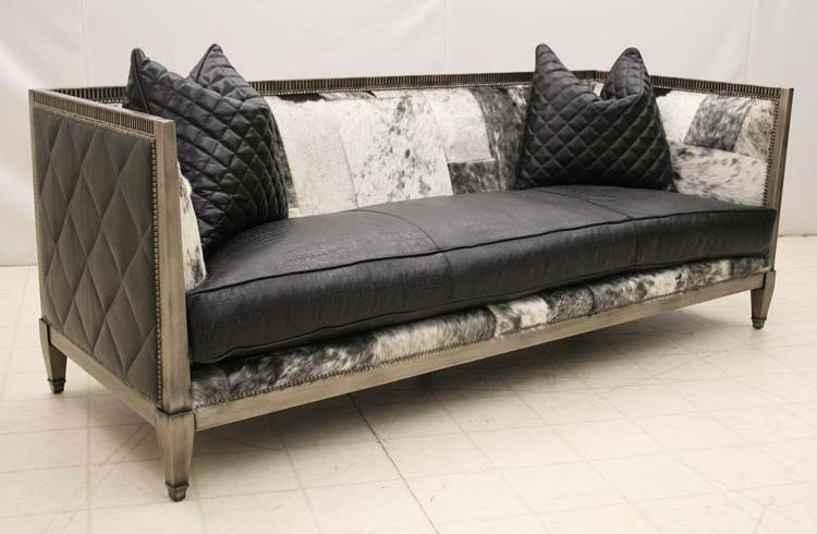 High Quality Contemporary Western Hair Hide Sofa Old Hickory Tannery Furniture