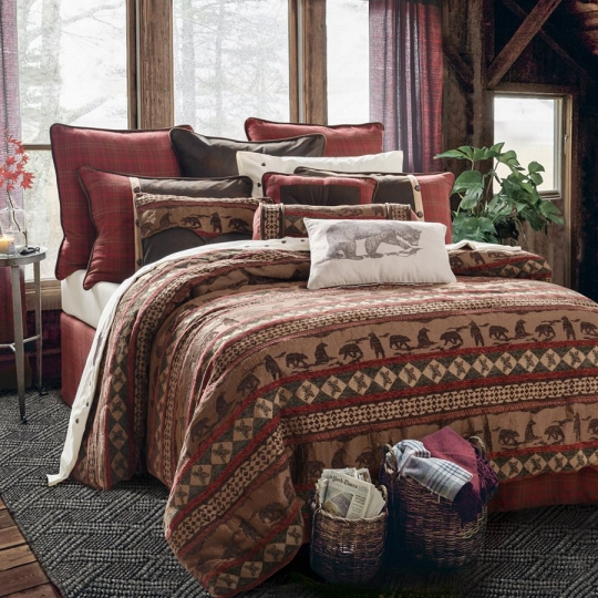 Cascade Lodge Bedding Set Western Passion, Mountain Lodge Bedding