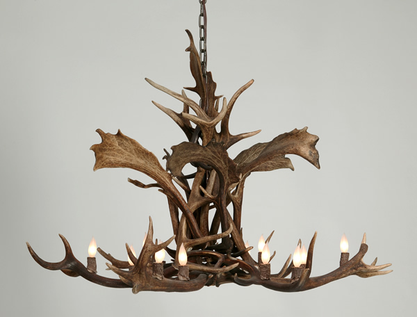 Fallow deer and red stag antler chandelier western passion aloadofball Choice Image