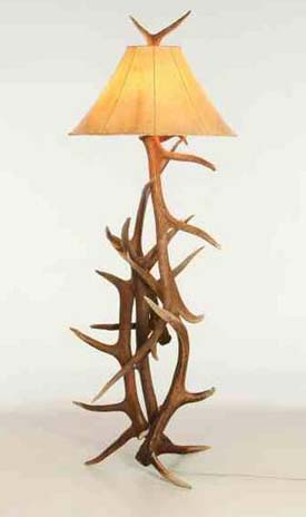 Elk Antler Floor Lamp Western Passion