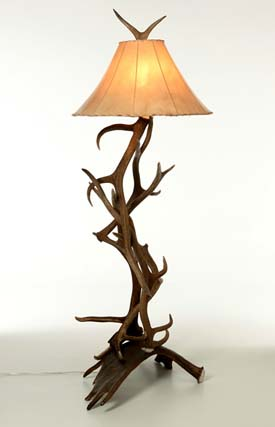Moose And Elk Antler Floor Lamp