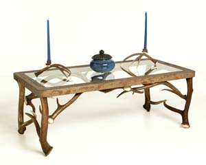 Exceptionnel Elk Antler Coffee Table