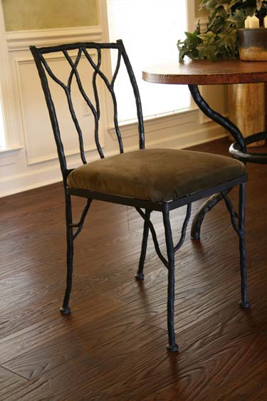 Beau Forged Iron Twig Side Chair 217