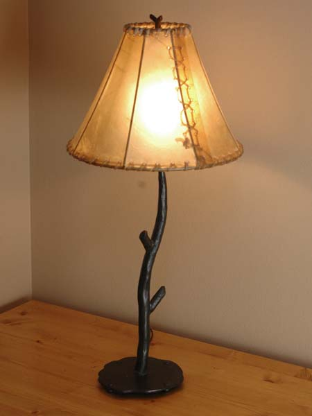 Forged Iron Table Lamp Western Passion