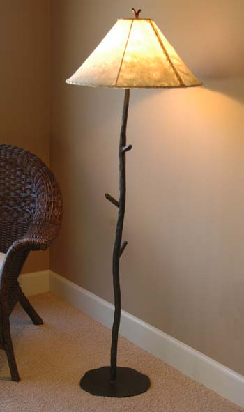 Forged Iron Floor Lamp Western Lamps