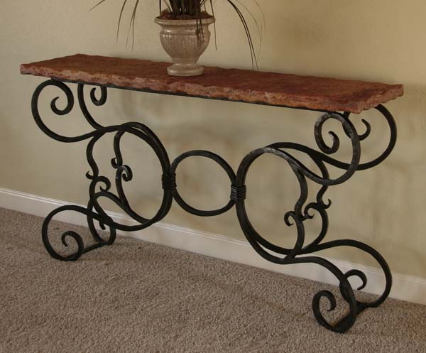 Marble And Iron Console Table 511 Western Sofa Tables