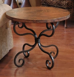 Copper And Iron End Table 513