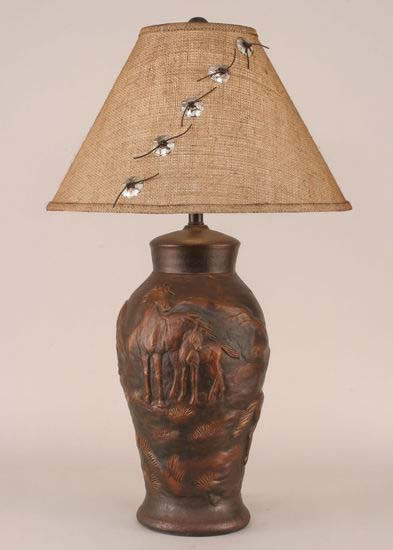 Horse Urn Lamp With Concho Shade Western Passion