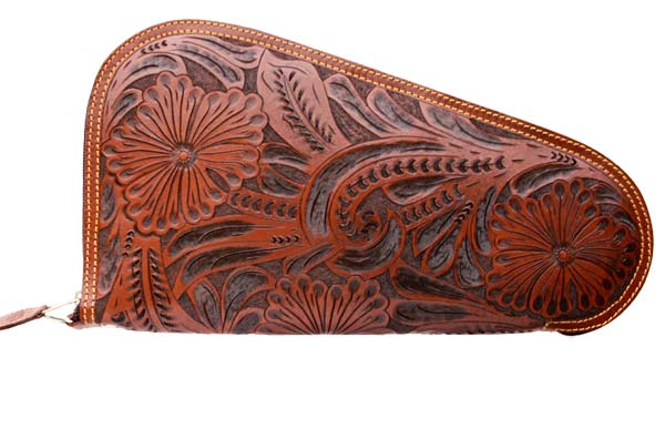 Medium Carved Leather Pistol Case 111 Coupon Code 20off