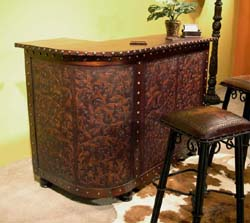 Tooled Leather Bar Western Barstools And Bars Free Shipping