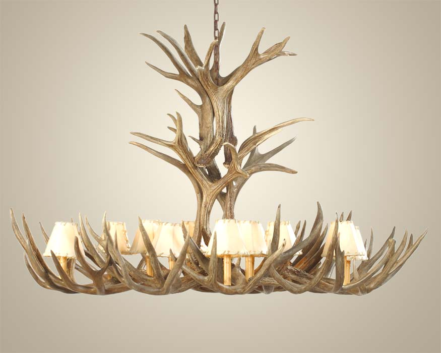 Extra large mule deer antler chandelier western passion aloadofball Image collections