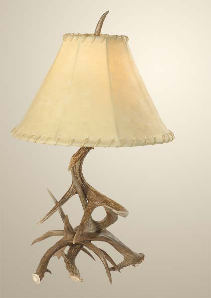 Deer Antler Table Lamp Western Passion