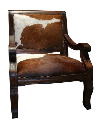 Cowhide Den Chair