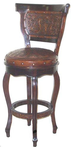 Heritage Barstool With Back Set Of 2 Western Passion
