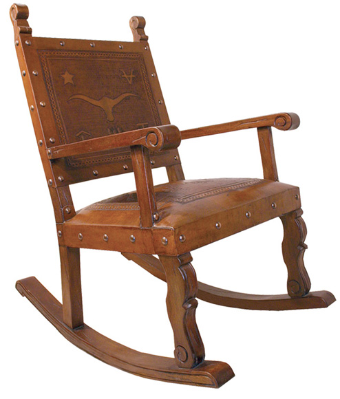 Tooled Leather Rocking Chair Western Passion
