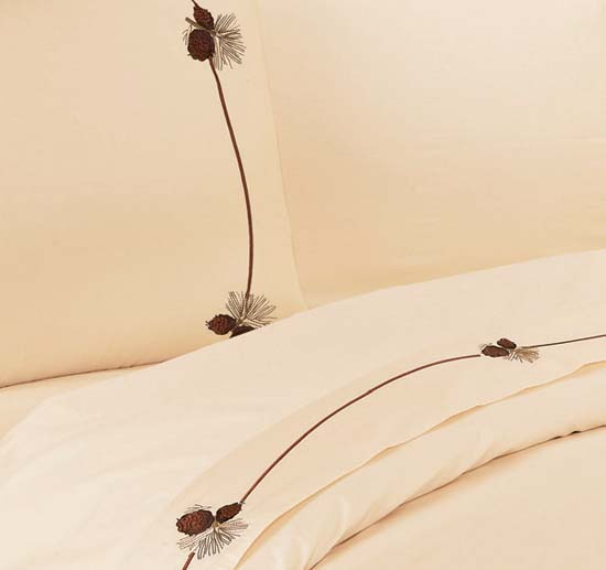 Pine Cone Lodge Sheet Set Western Lodge Sheets And Towels