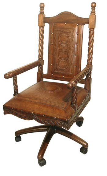 Soloman Leather Office Chair Western Passion