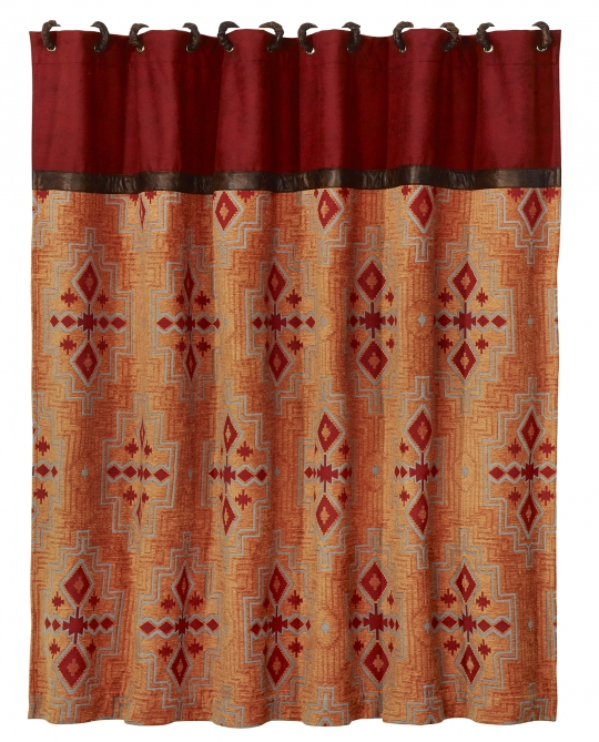 Corrales Shower Curtain Western Passion