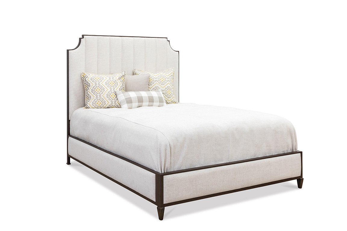 Picture of: Wesley Allen Spencer Upholstered Iron Bed With Fabric Surround Western Passion