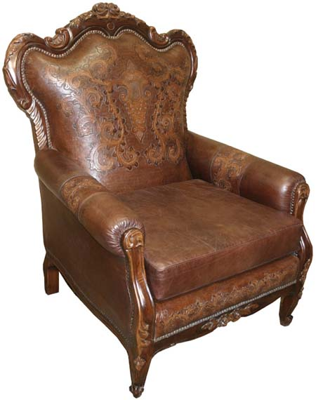 Hand Tooled Western Accent Chair Western Passion