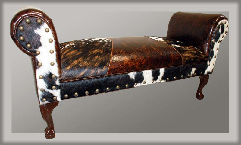 Triumph Western Cowhide Bench Western Benches Free Shipping