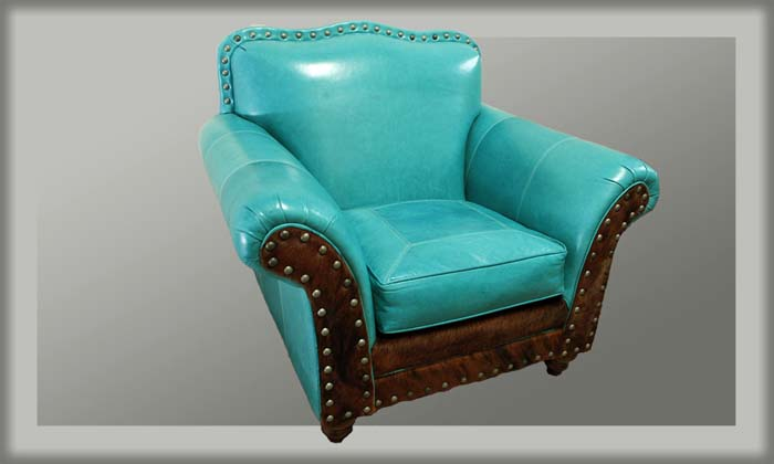 Albuquerque Turquoise Western Chair Western Accent Chairs