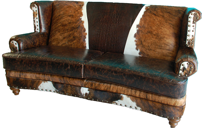Luckenbach Curved Front Sofa Western Sofas And Loveseats