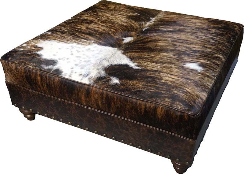 Gringo Western Cowhide Ottoman Western Passion