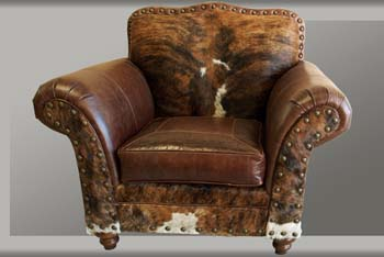 Vaquero Western Leather Club Chair Western Accent Chairs