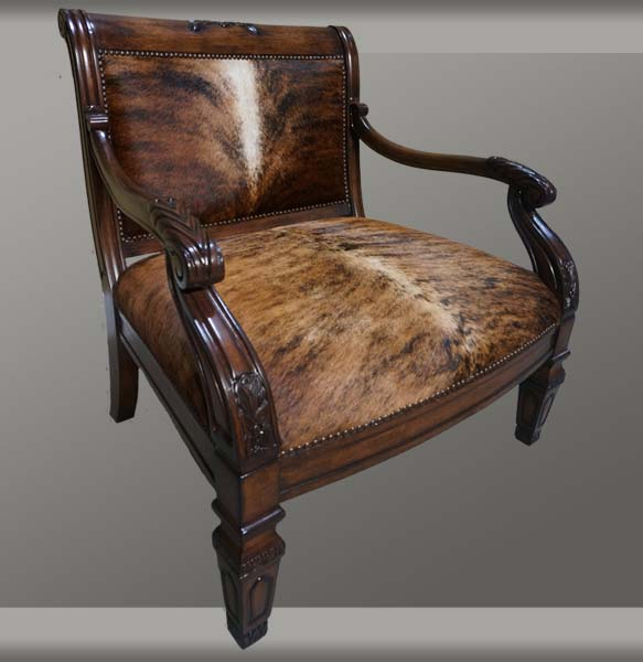 Brazilian Cowhide Accent Chair Western Accent Chairs