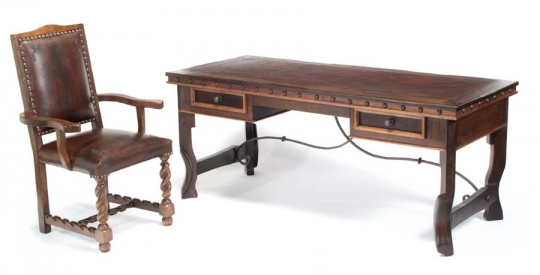 Delicieux Western Oxbow Leg Office Desk