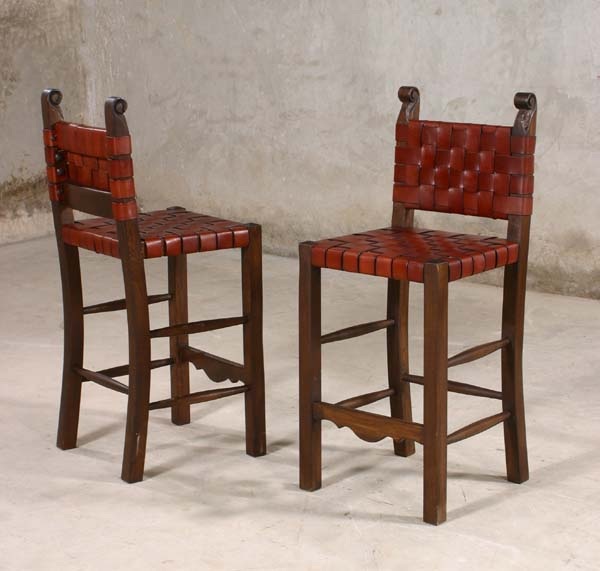 leather strap western barstools western barstools and bars