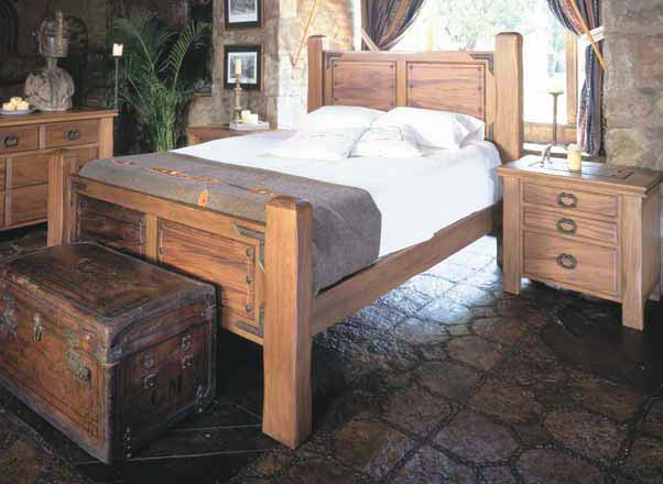 Nevada Wood Bed Western Bedroom Furniture - Free Shipping!