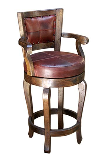 Western Curved Leg Barstool Western Passion