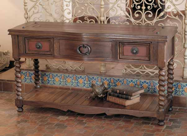 Rafaela Handcrafted Console Table Western Sofa Tables