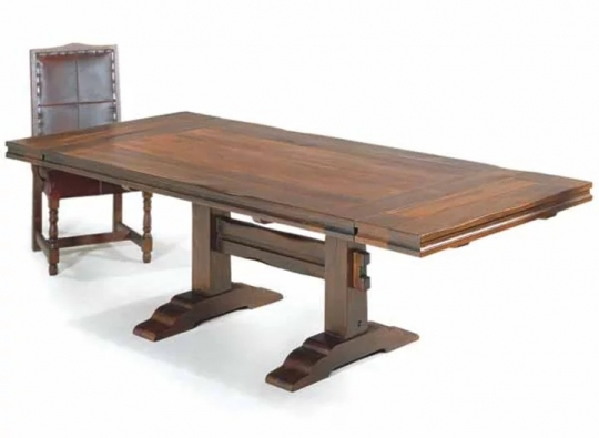 Rustic Trestle Dining Table Western, Western Dining Room Furniture