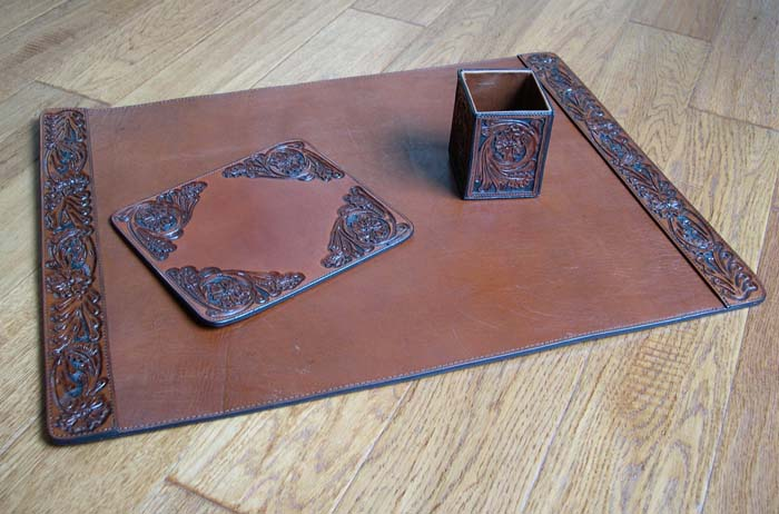 Tooled Leather Desk Set Coupon Code 20off Western Passion