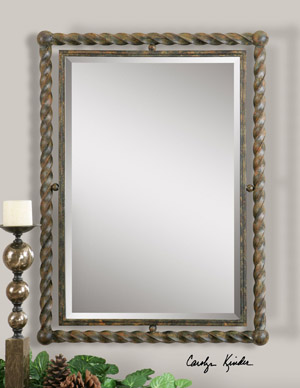Twisted Rope Design Mirror Western Passion