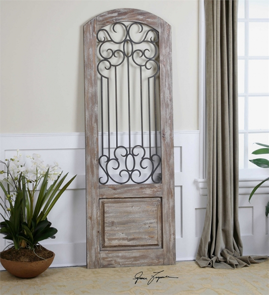 Distressed Wood And Metal Wall Panel