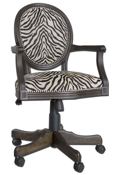 Woven Zebra Office Chair Western Office Furniture - Free Shipping!