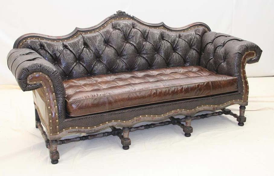Vintage Brown Tuscan Sofa Western Passion