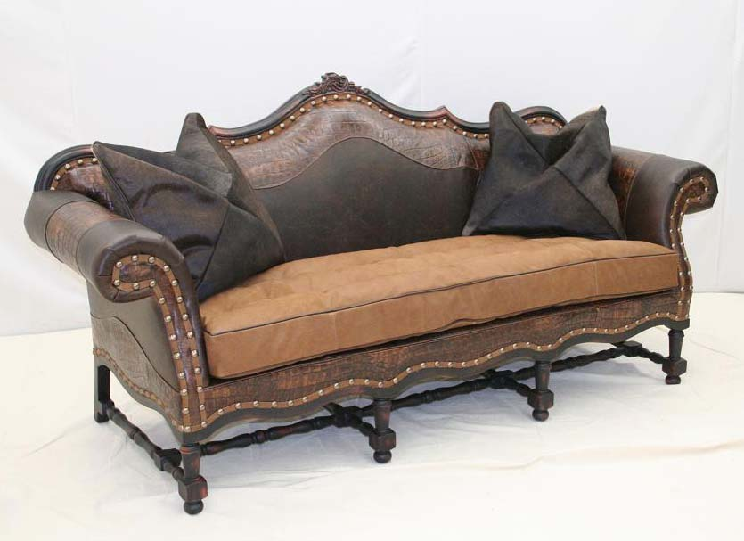 Big Easy Western Sofa Old Hickory Tannery Furniture