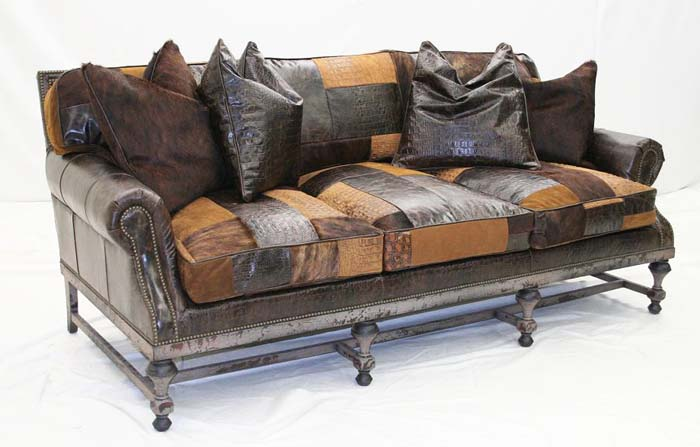 Patchwork Designer Leather Sofa Western Passion