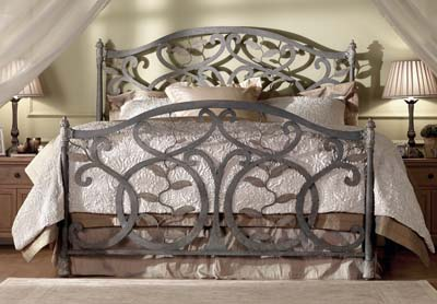 Wesley Allen Laurel Iron Bed