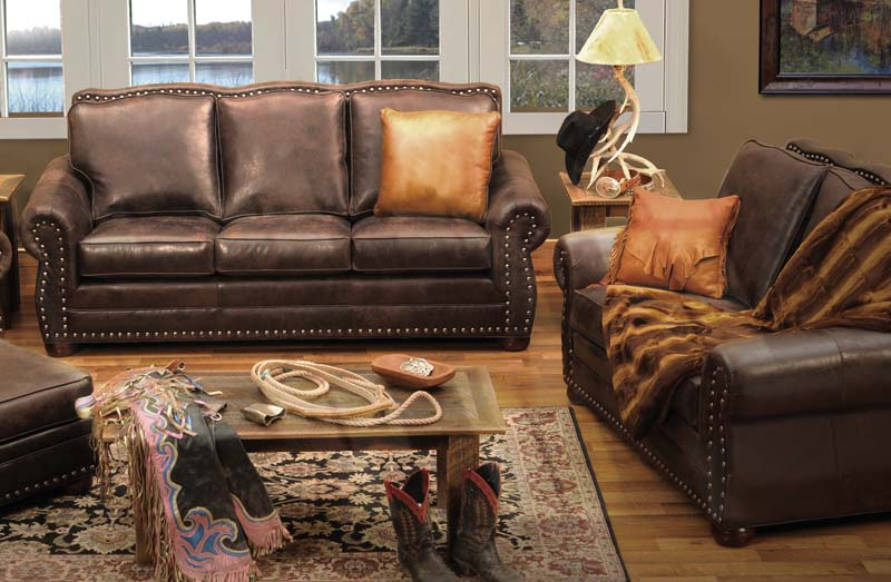 Wooded River Jerome Davis Western Sofa: Western Passion