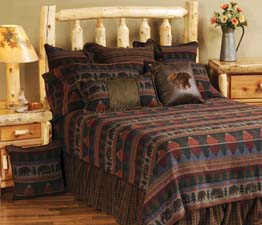 Cabin Bear Lodge Bedding Cabin Bear Bedspread