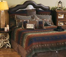 Mustang Canyon Western Bedding Raven Suede Fringe Pillow
