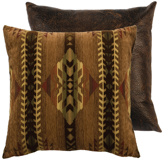 Wooded River Stampede Euro Sham: Western Passion